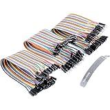 Ganvol 120 pcs Cavetti 20cm Jumper Filo (sono 40 M-M + 40 M-F +40F-F), Maschio a Femmina a Maschio, Dupont Multicolore Wire Cavi per Arduino UNO R3, Raspberry Pi Model A/Model B 1 1+ 2 3