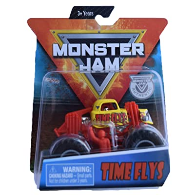 Monster Jam Hot Wheels 1:64 Scale Time Flys, Yellow/red: Toys & Games