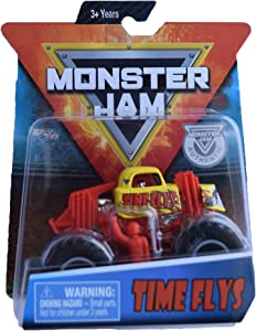 Monster Jam Hot Wheels 1:64 Scale Time Flys, Yellow/red