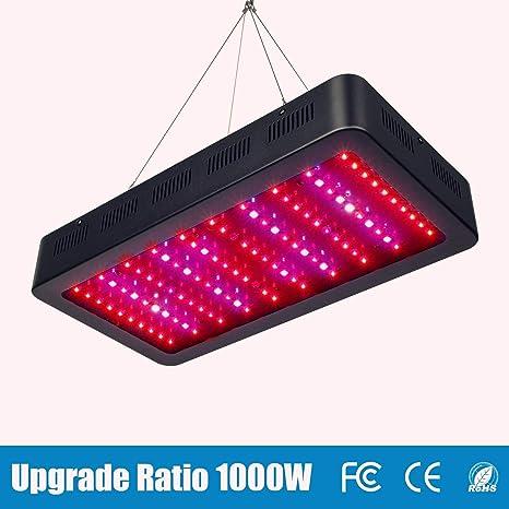 TOPLANET Led Cultivo 1000w Led para Plantas Lampara UV IR LED Full Spectrum para Interior Invernadero