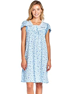 4a12db93fd Casual Nights Women s Cap Sleeve Floral Nightgown