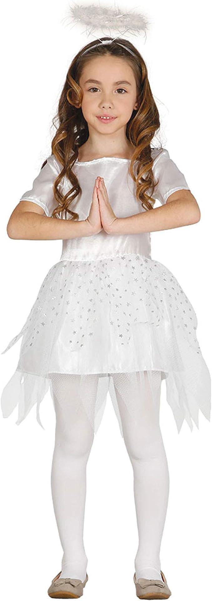 GUIRMA Traje ángel niña, Color Blanco, 3 – 4 años, 41582: Amazon ...