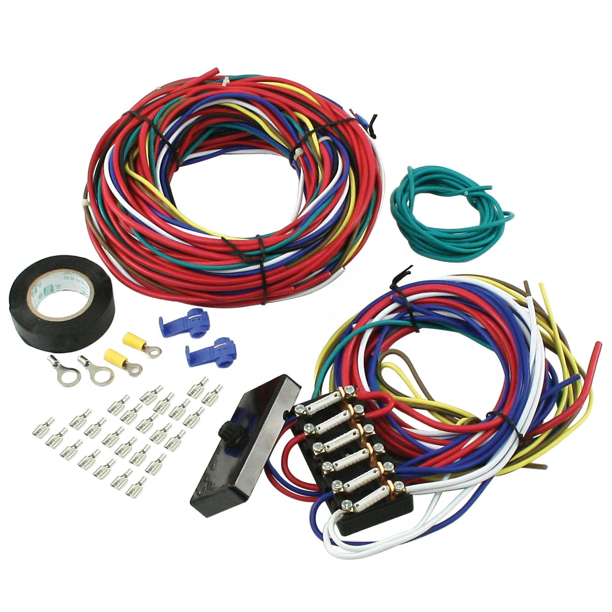712Fyt3MSiL._SL1204_ amazon com empi 00 9466 0 wire loom kit, vw buggy, sand rail VW Wiring Harness Kits at gsmx.co