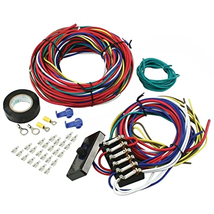 amazon com empi 00 9466 0 wire loom kit, vw buggy, sand rail Volkswagen Wiring Harness amazon com empi 00 9466 0 wire loom kit, vw buggy, sand rail, universal automotive