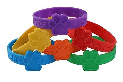 Amazoncom PCS Paw Print Patrol Rubber Bracelets Wristbands - Car show goody bag stuffers