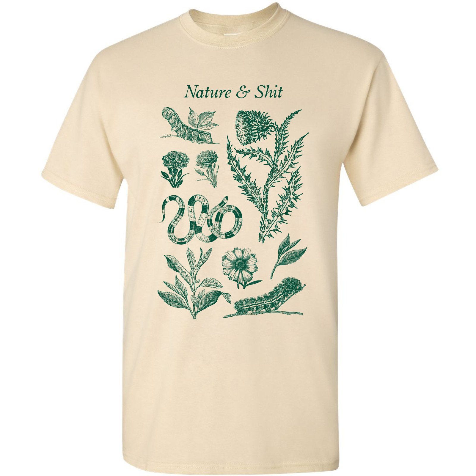 Nature And Shit Funny Outdoors Hiking Basic Tshirt