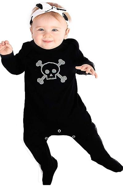 SKULL CROSSBONES MITTENS alternative baby clothes girl boy newborn scratch fun