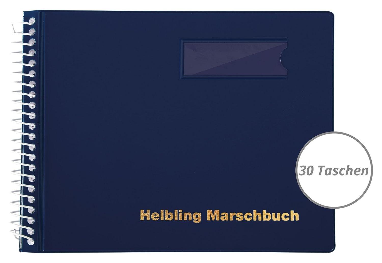helbling bmb30marsch Livre (Carnet de note avec 30pochettes blendfreien, enveloppe spirales en plastique flexible, incassable, résistant aux intempéries, paysage Format: 18X 14cm) Bleu