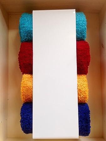 Handtuchhalter weiß Gästehandtücher Halter Badezimmer WC Regal modern  schlicht