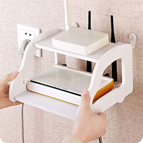 2a804944cf54c Buy Okayji MDF Wood Wall Mounted Shelf Stand for Router TV Setup Box  (White) Online at Low Prices in India - Amazon.in