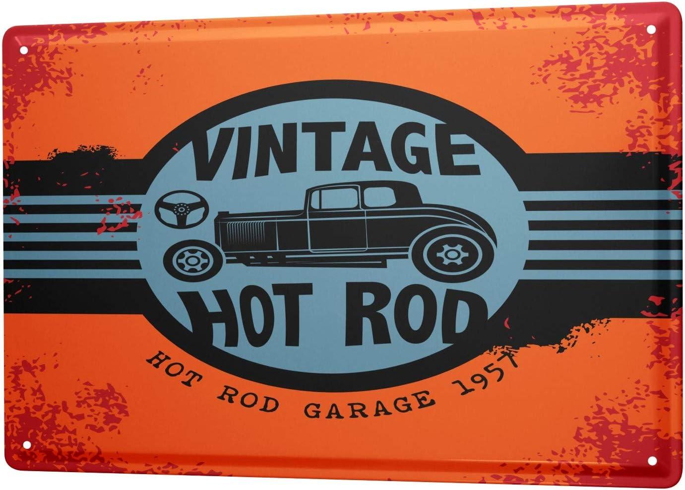 Leotie Since 2004 Blechschild Vintage Retro Metallschild Wandschild Blech Poster Oldtimer Auto Vintage Hot Rod Küche Haushalt