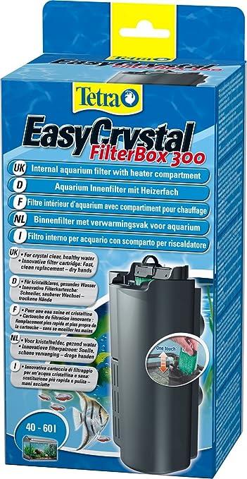 Tetra EasyCrystal FilterBox 300 - Filtro interior de acuario con compartimento para el calentador, procura agua cristalina y saludable, adecuado para acuarios de 40 a 60 litros: Amazon.es: Productos para mascotas