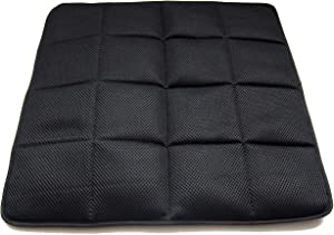 """DGQ Natural Bamboo Charcoal Non-Slip Breathable Seat Cushion 17.7"""" 17.7""""- Home Office Car Chair Cover Pad Mat (Pack of 1,Black)"""
