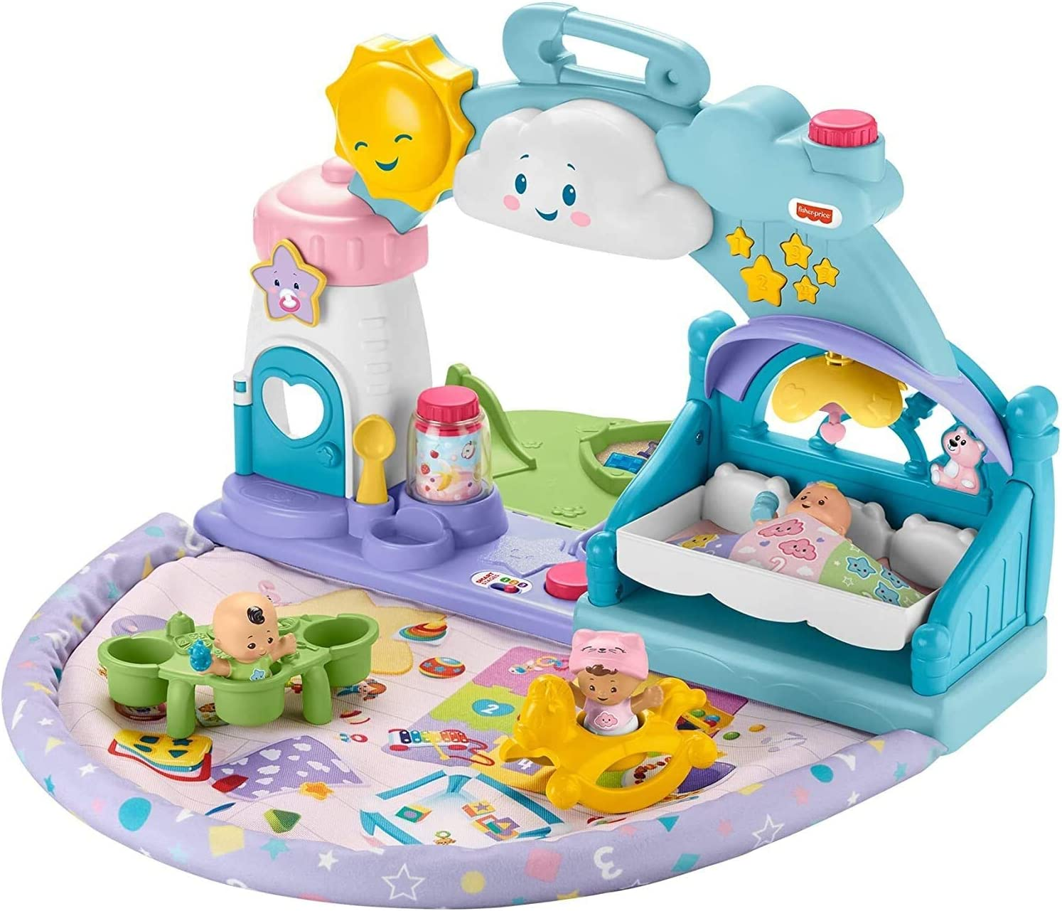 Fisher-Price Little People 123 Babies Playdate, musical take-along playset with Smart Stages for toddlers and preschool kids