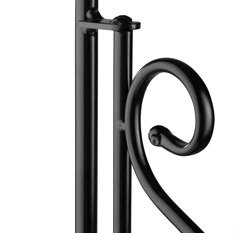 Schwarz-Wei/ß   Nr. 402771 3 Regalf/ächer aus Steinmosaik TecTake 800572 geschwungener Metallrahmen Diverse Farben Metallregal Mosaik