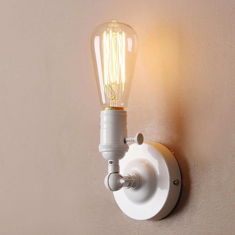 loft vintage lampada da parete fissaggio a parete illuminazione Rustic Flush Mount lampada da parete, bianco GF YD292