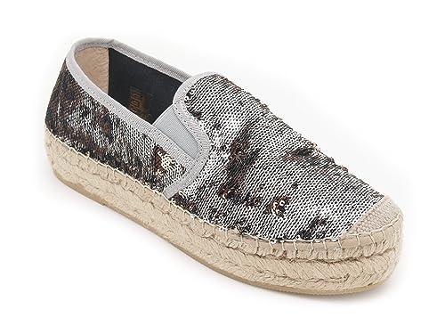 Vidorreta - Alpargatas de Lona para mujer Plateado Size: 37: Amazon.es: Zapatos y complementos