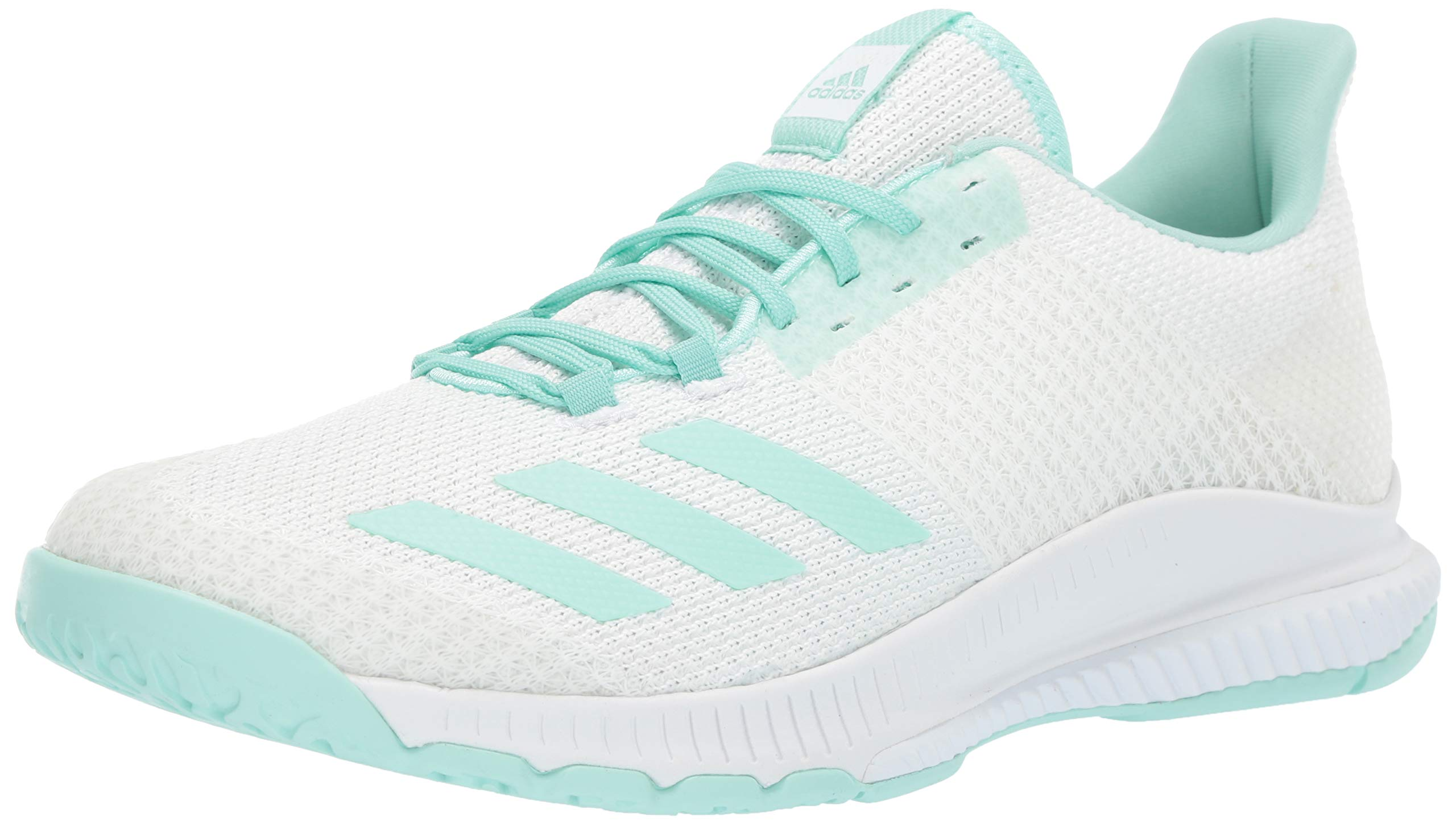 adidas Women's Crazyflight Bounce 2 Shoes, White Clear Mint, 8 M US by adidas