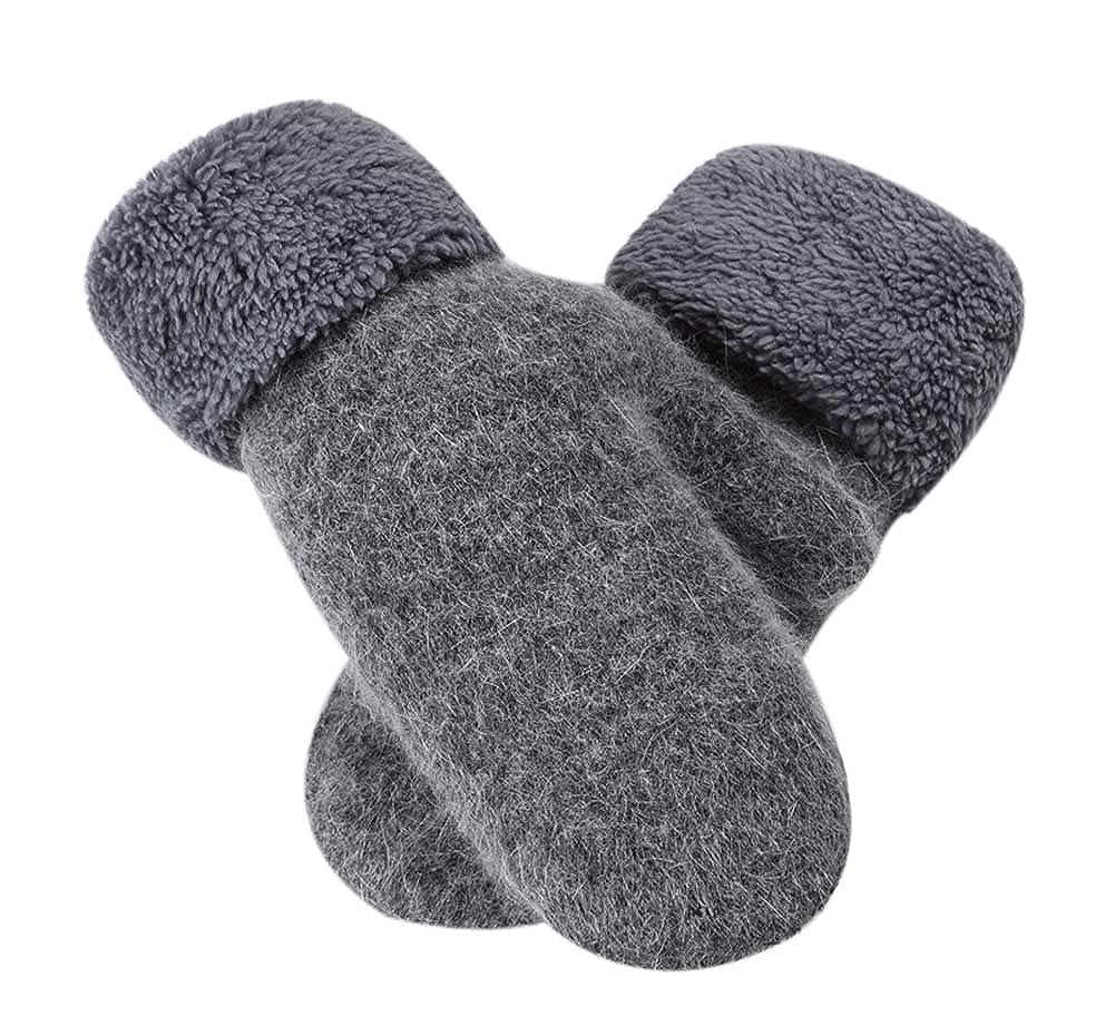 Warm Fingerless Gloves Woollen Mitten Lovely Women's Winter Gloves, GREY PS-CLO2474963011-SUE00562