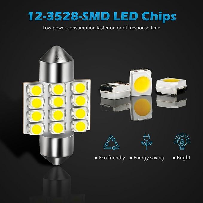 Fiat Doblo 223 264 42mm White Interior Courtesy Bulb LED Light Upgrade
