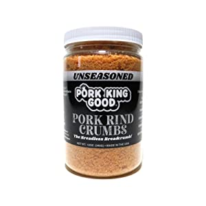 Pork King Good Unseasoned Pork Rind Breadcrumbs (Low Carb Keto Diet)! Perfect For Ketogenic, Paleo, Gluten-Free, Sugar Free and Bariatric Diets. Carb free!