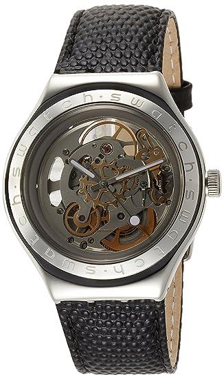 Piel Y Automático Reloj Esqueleto I Swatch De Hombre Cuerpo OuPZTwkXil