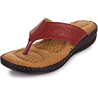 TRASE Dr - Plus I Brown/Black/Cherry Ortho Slippers for Women (with Comfortable Doctor Sole)