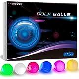 THIODOON Glow Dark Golf Balls for Night Sports LED Golf Balls Light up Golf Ball Glow Golf Balls Glowing in The Dark…