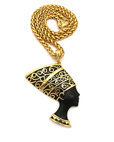 Crown egyptian queen nefertiti pendant 18 necklace various crown egyptian queen nefertiti pendant 18quot necklace various color available gold black mozeypictures Choice Image