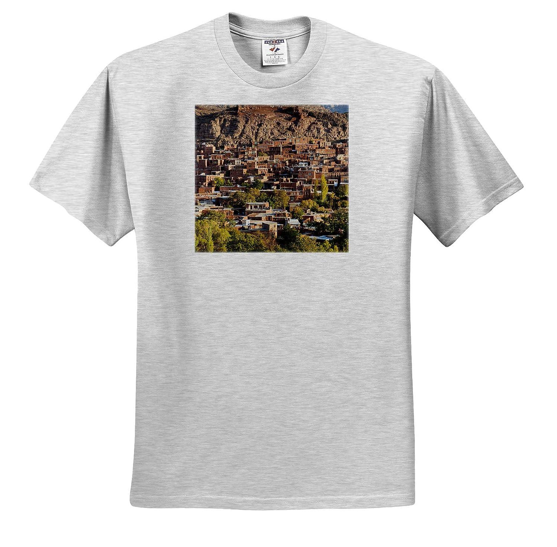 Elevated Village View 3dRose Danita Delimont ts/_312745 Central Iran Adult T-Shirt XL Iran at Dawn Abyaneh