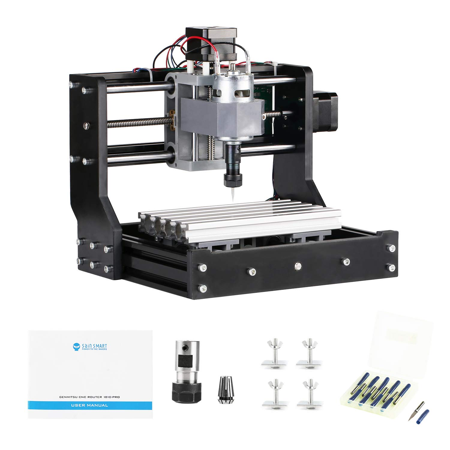 SainSmart Genmitsu CNC Router Kit 1810-PRO GRBL Control 3 Axis