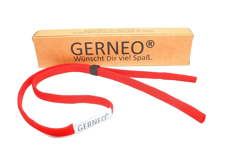 GERNEO – Premium Sportbrillenband & Brillenband für Sportbrillen, Sonnenbrillen, Lesebrillen, Skibrillen – in diversen Farben – wasserfest