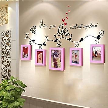 GBBD Bilderrahmen Foto Wand Holz Kombination Europäischen Kreative ...
