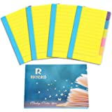 R RUCKERCO Office Supplies Sticky Notes Divider Sticky Notes Tabs ,Tabbed Self-Stick Lined Bright Colors Note Pad, School Sup