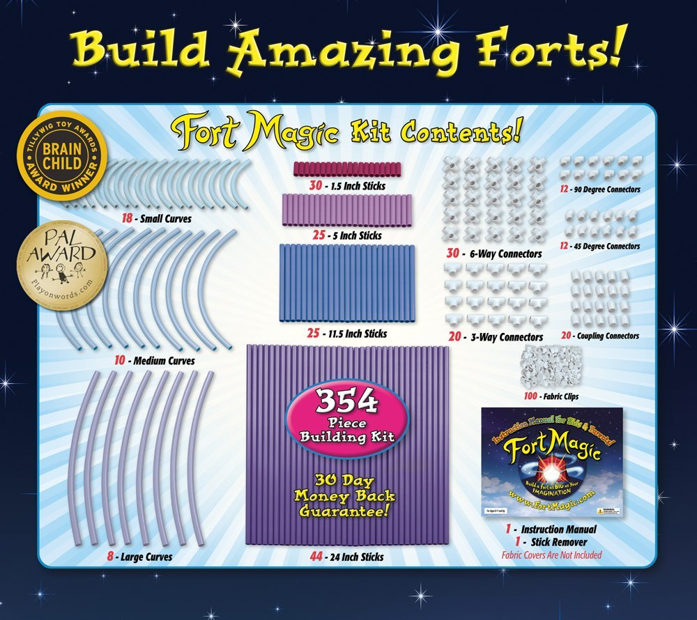Fort Magic: Fort Building & Construction Toy Kit by Fort Magic (Image #2)