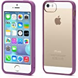 Griffin Reveal Clear Case with Orchid Trim for iPhone 5/5s, iPhone SE - Ultra-thin hard-shell Clear Protecive case