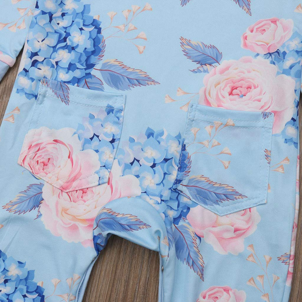 for 0-2Years,SO-buts Toddler Kids Baby Girl Cotton Floral Flower Romper Jumpsuit Bow Hairband Outfits Clothes Sets