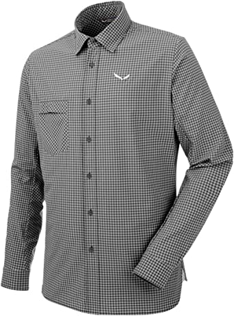 SALEWA Puez Mini Check Dry SRT Camisa de Manga Larga, Hombre: Amazon.es: Ropa y accesorios