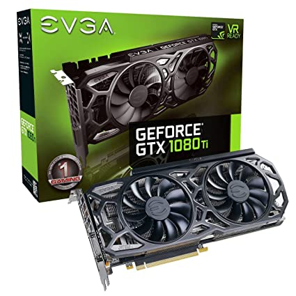 EVGA GeForce GTX 1080 Ti SC Black Edition Gaming GeForce GTX 1080 Ti 11GB GDDR5X - Tarjeta gráfica (GeForce GTX 1080 Ti, 11 GB, GDDR5X, 352 bit, 7680 ...