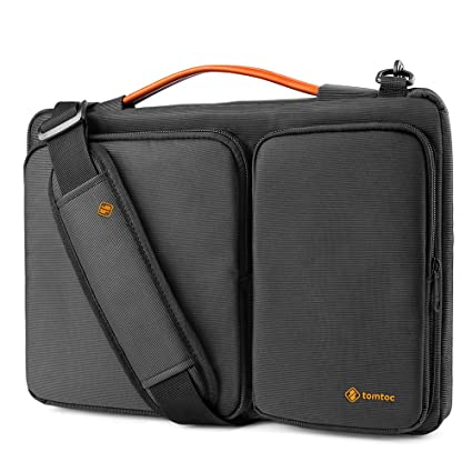 41014c7c405d6 tomtoc 360 Protective Laptop Shoulder Bag for for 15 Inch Old MacBook Pro  Retina, Dell XPS 15, 15 Inch Microsoft Surface Book 2, The New Razer Blade  ...