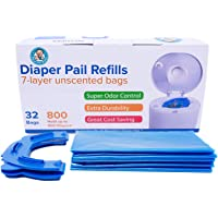 Diaper Pail Refills (32 Bags, 800 Diapers) Compatible with All Arm&Hammer Diaper Pails