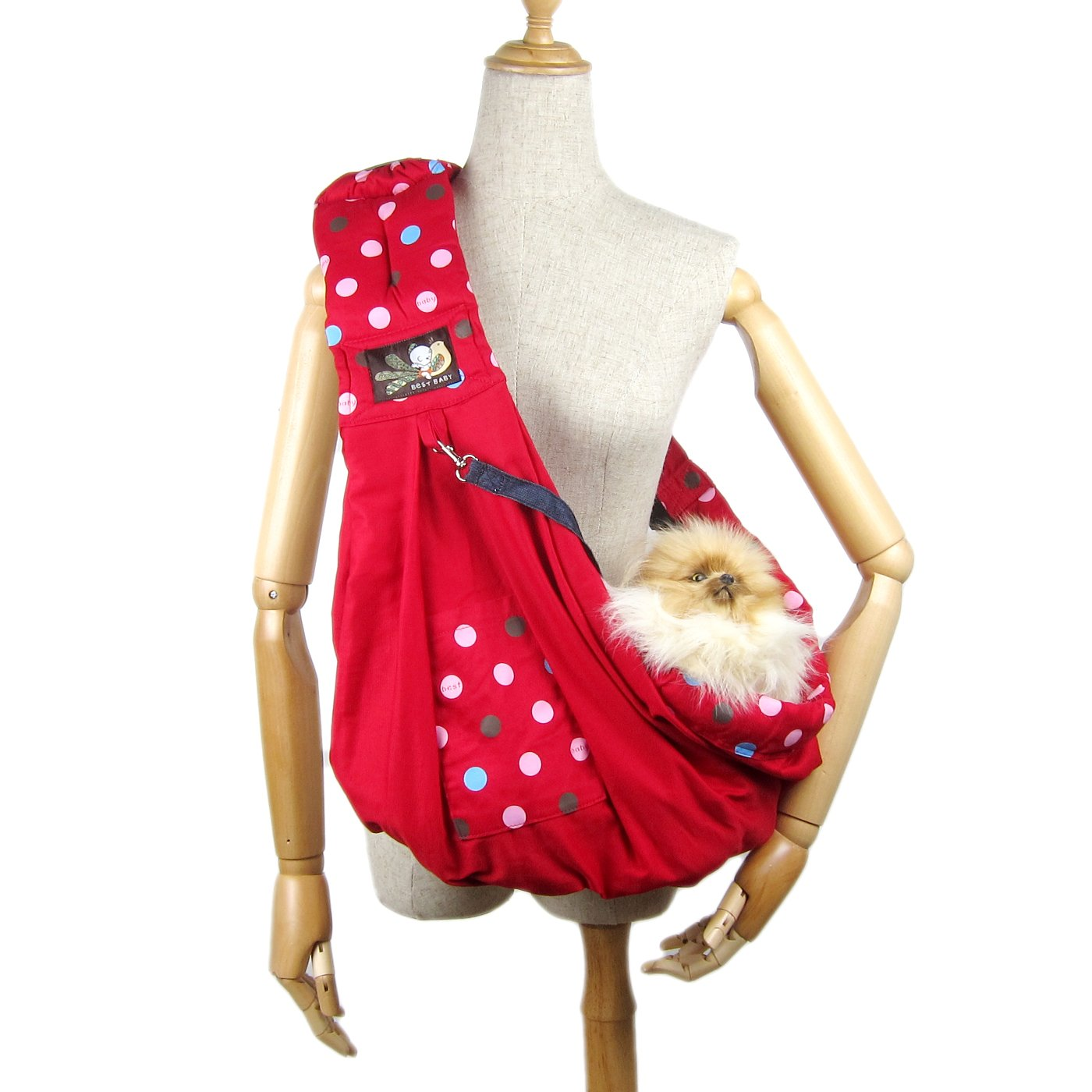 Alfie Pet by Petoga Couture - Hollis Pet Sling Carrier with Adjustable Strap - Color: Red by Alfie (Image #1)