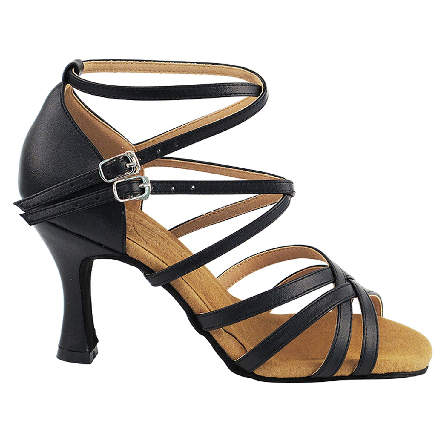 50 Shades Black Ballroom Salsa Latin Dance Shoes for Women