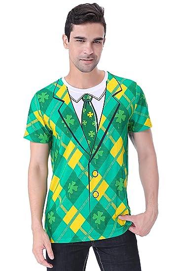 COSAVOROCK Disfraz de Leprechaun Hombre Traje de San ...