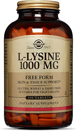 Solgar L-Lysine 1000 mg, 250 Tablets