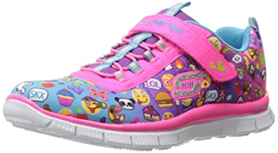 skechers shoes for girls kids. skechers kids girls skech appeal-pixel princess sneaker, emoji multi, 1 m us shoes for