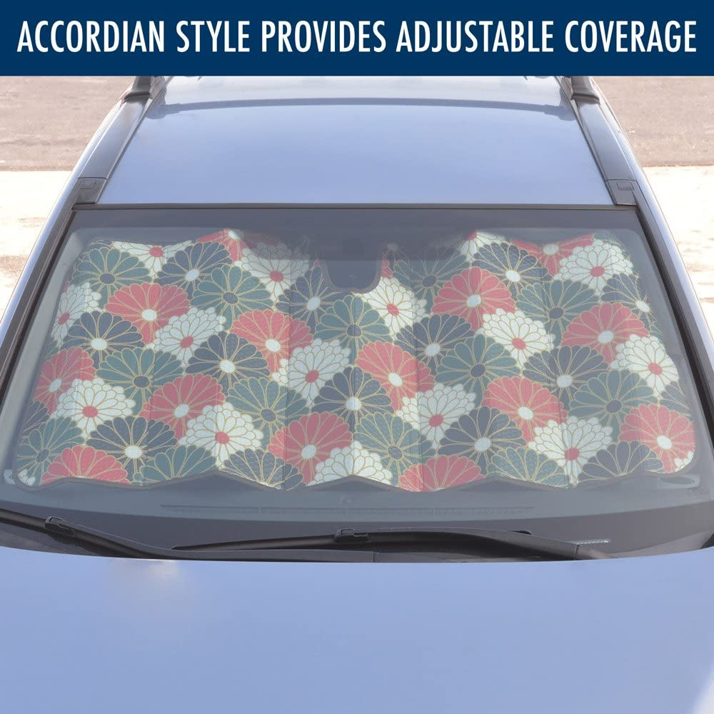 BDK Camo Auto Windshield Sun Shade for Car SUV Truck AS-703/_n Double Bubble Foil Jumbo Folding Accordion Forest Camouflage