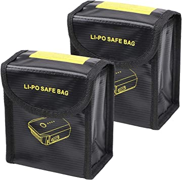 DJI Mavic Air Lipo Battery Safe Bag Fire Resistant Storage Case Guard Protector