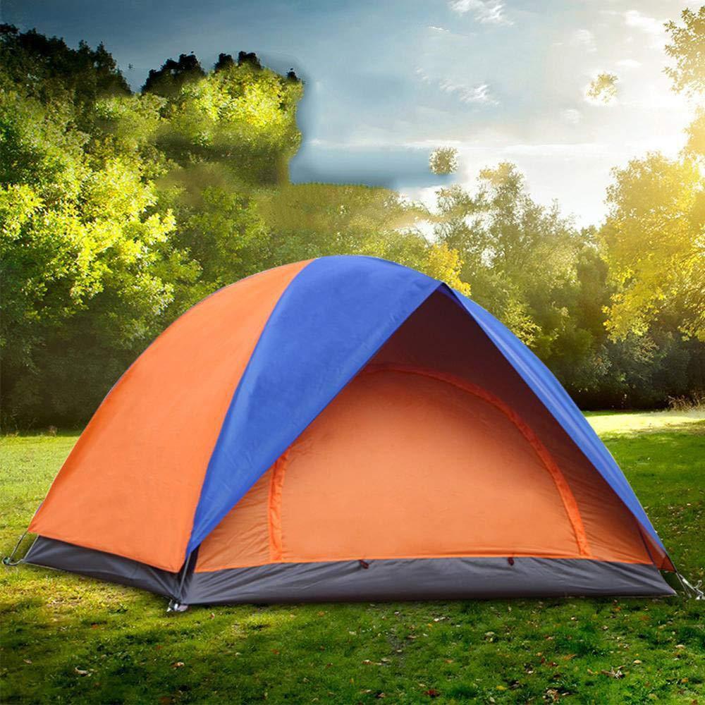 Lxj Outdoor-Zelt-Mehrpersonen Reise Zelt 3 bis 4 Personen, Camping Zelte wasserdicht Doppelte Zelt Outdoor-Sonnenschutz Zelte 200  200  H1 35cm