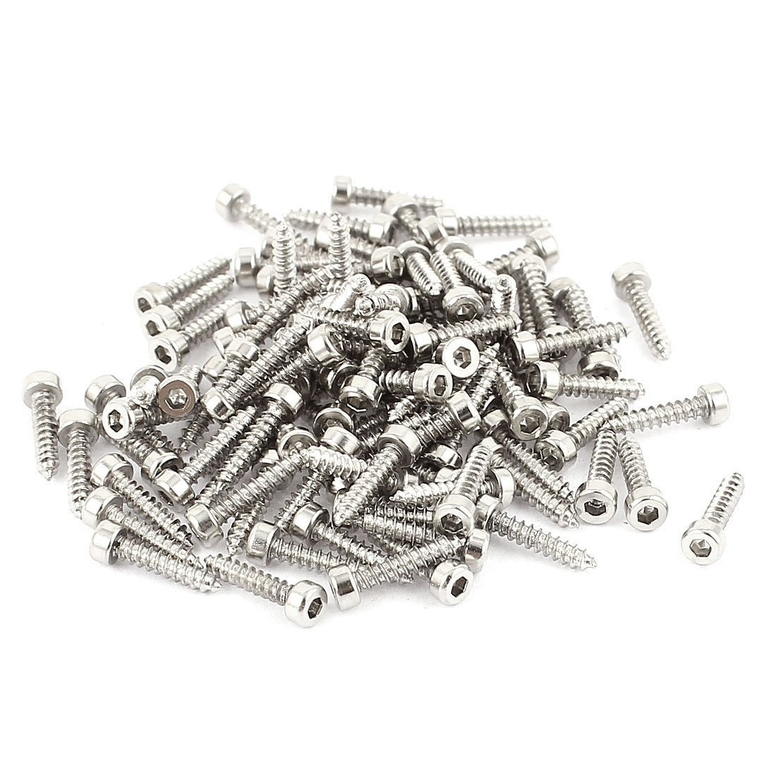 Uxcell a15061900ux0265 2 mm x 10 mm Full Thread Hex Head Self Tapping Screws 100 Pcs Pack of 100